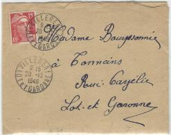 Marianne De Gandon (n° 813) Obliteration Villereal Lot Et Garonne - Francia