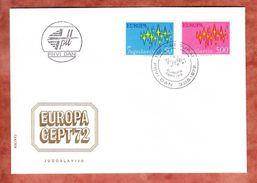 FDC, Europa Cept, Erstausgabestempel Belgrad 1972 (40691) - FDC