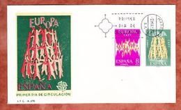 FDC, Europa Cept, Erstausgabestempel Madrid 1972 (40697) - FDC