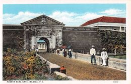 "D6258 ""FILIPPINE - PUERTA REAL GATE. MANILA P.I.""  ANIMATA.   CART  NON  SPED - Filippine"