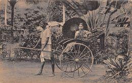 "D6263 ""SRI LANKA - TAMIL LADY IN RICKSHAW""  ANIMATA.   CART  NON  SPED - Singapore"
