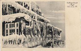 AK Baude Reifträgerbaude Winter Eiszapfen Stempel A Schreiberhau Szklarska Poreba Harrachsdorf Jakobsthal Riesengebirge - Sudeten
