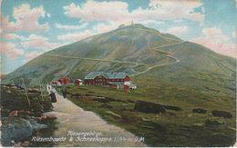 AK Riesengebirge Riesenbaude Schneekoppe Baude Koppenplan Riesengrund Melzergrund Bei Petzer Pec Krummhübel Karpacz - Sudeten