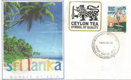 Le Thé De Ceylan,symbol Of Quality (Sri Lanka Wonder Of Asia) Sur Lettre - Other