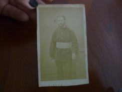 PHOTO ANCIENNE CDV SOLDAT MILITAIRE PHOTOGRAPHE ALLEVY - Antiche (ante 1900)