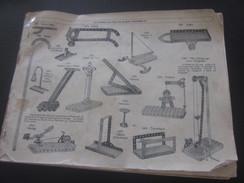 MECCANO-3 CATALOGUES Reliés USINES A BOBIGNY-1947-GRUE-LOCOMOTIVE-AVION HYDRAVION-CAMION-TRACTEUR-SULKY-MANEGE-TANK-Jeux - Meccano