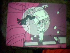 "Calendrier Une Page Un Mois Decembre 1954 Pub  Emballge Cempex  Dessin Au Dos De  Jean Eiffel "" Emboitte"" - Calendriers"