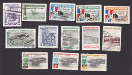 Dominican Republic, Scott #509, 512-515, 517-519, 521-524, Used,Polo, Census, Charles V, Refugees, Issued 1959-60 - Dominican Republic