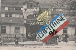 CPA SAINT RAMBERT EN BUGEY AIN SORTIE DE LA FILATURE - France