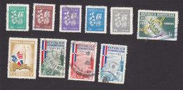 Dominican Republic, Scott #553-557, 561-562, 565-566, 568, Used, Coffee, Cacao, End Of Trujillo Era, Issued 1961-62 - Dominican Republic