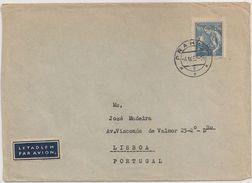 Ceskoslovensko Czechoslovakia Cover Circulated 1957 - Vignette Par Avion Letadlem - Stamp Occupations - Cancel Praga - Tchécoslovaquie