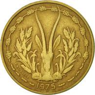 West African States, 25 Francs, 1975, Paris, TTB, Aluminum-Bronze, KM:5 - Ivory Coast