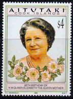 B5338 AITUTAKI 1995, SG 688  95th Birthday Queen Elizabeth The Queen Mother, MNH - Aitutaki