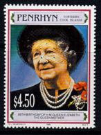 D0299 PENRHYN 1995, SG 515  95th Birthday Queen Elizabeth The Queen Mother, MNH - Penrhyn