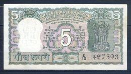 506-Inde Billet De 5 Rupees 1970 E15 Sig.77 - India