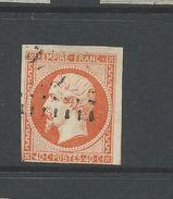France 1853 Napoleon 40 Cent Orange Good Used - 1853-1860 Napoleon III