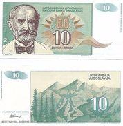 Yugoslavia - 10 Dinar 1994 UNC - Yougoslavie