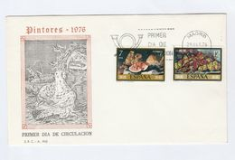 1976 SPAIN FDC Stamps ART  FRUIT  Cover Bird - Fruits