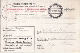 Camp De Prisonniers Stalag VI A - Poststempel (Briefe)