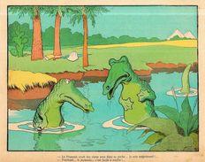 Gravure Benjamin RABIER 24 X 19 Environ Le Trait Sur La Gravure Est Un Défaut Du Scan Crocodile - Affiches