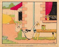Gravure Benjamin RABIER 24 X 19 Environ Le Trait Sur La Gravure Est Un Défaut Du Scan Oie Truffes - Affiches