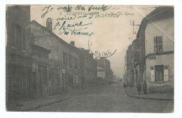 AUBERVILLIERS - 93 - La Rue Du Landy - Voyagée Manque Timbre 1 Trace Pliure - 1921 - Aubervilliers