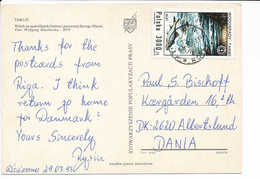 Mi 3381 Solo Postcard Tanew Waterfall Fish Leuciscus Leuciscus UNCED - 29 March 1993 Toruń 1 To Denmark - 1944-.... Republic