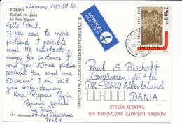 Mi 3329 Solo Postcard Constitution 200th Anniversary - 20 January 1993 Chełmno To Denmark - 1944-.... Republic