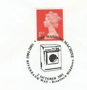 2001 GB COVER EVENT Pmk Illus WASHING MACHINE Anniv  Riverbank Way Brentford Stamps - Sciences