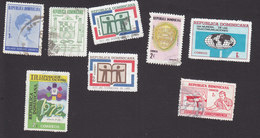 Dominican Republic, Scott #670, 672, 689-691, 694-95, 703, Used, Urdaneta, Masons, Books, Mask Mail, Issued 1970-72 - Dominicaanse Republiek