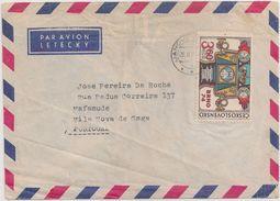 Ceskoslovensko Czechoslovakia Cover Circulated 1974 - Vignette Label Par Avion - Stamp BRNO - Cancel Janova - Briefe U. Dokumente