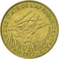 États De L'Afrique Centrale, 5 Francs, 1977, Paris, TTB+, Aluminum-Bronze, KM:7 - Cameroun