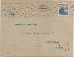 Ceskoslovensko Czechoslovakia Cover Circulated 1938 To Portugal - Cancel Praha - Cancel Publicity Advertising Postcard - Briefe U. Dokumente