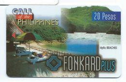 Print Demo No Chip Philippines P20 1st Issue Beaches 11/30/98 Test - Philippines