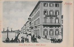 FIRENZE → Lung' Arno Nuovo E Hotel Bristol, Cartolina Ca. 1900 - Firenze (Florence)