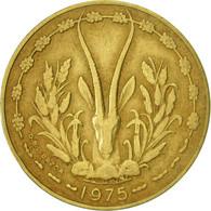 West African States, 10 Francs, 1975, Paris, TTB+, Aluminum-Nickel-Bronze, KM:1a - Ivory Coast