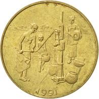 West African States, 10 Francs, 1991, Paris, TTB, Aluminum-Bronze, KM:10 - Ivory Coast