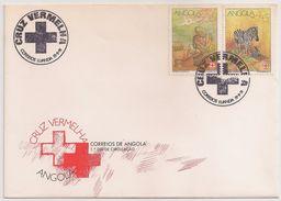 Angola FDC 1991 - Cruz Vermelha - Cruz Roja - Red Cross - Croix Rouge - Cancel Luanda - Angola