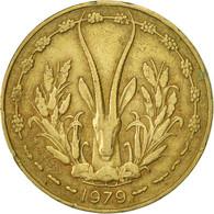 West African States, 10 Francs, 1979, Paris, TTB, Aluminum-Nickel-Bronze, KM:1a - Ivory Coast