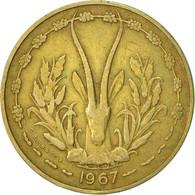 West African States, 10 Francs, 1967, Paris, TTB, Aluminum-Nickel-Bronze, KM:1a - Ivory Coast