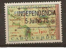 CAPE VERDE 1975 Stamps Of 1968  Overload Tip II Upper The Tax - Cape Verde
