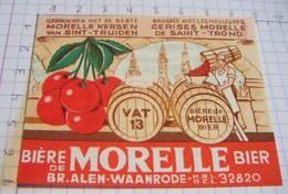 ÉTIQUETTE BIERE MORELLE  BRASSERIE ALEN WAANRODE - 2 - Bière