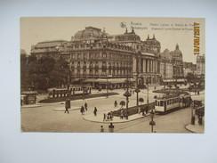 BELGIUM ANTWERPEN    THEATRE , TRAM , OLD POSTCARD  , KO - Tramways