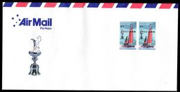 New Zealand Wine Post Withdrawn San Fransisco America's Cup Win Par Avion Postal Cover. - Unclassified