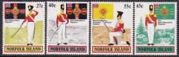 Norfolk Island 1982 Military Uniforms Sc 302-05 Mint Never Hinged - Norfolk Island
