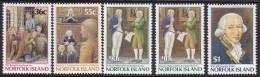 Norfolk Island 1986 Gov Phillip Sc 392-96 Mint Never Hinged - Ile Norfolk