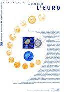 """(Prix à La Poste = 5.00 €) FRANCE 2001 Document Officiel 21 01 524 """" DEMAIN L'EURO """" N° YT 3402. DPO - Monete"""