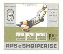 Football Euro 1988 Albania Sheet Mnh ** (only 12000 Issued) - Albania