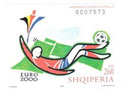 Football Euro 2000 Albania Sheet Mnh ** - UEFA European Championship