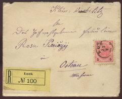 1891 LUCK EinschreibBfh. N. Ostrau - Briefe U. Dokumente